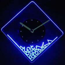 cnc2014-b Dropped Numerals Illuminated Wall Neon Clock Sign LED Night Light