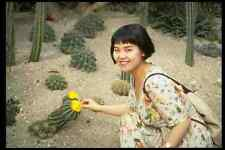 685005 Korean Girl With Flower Botanical Gardens In Chesu Island A4 Photo Print
