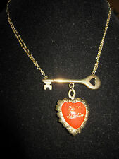 BETSEY JOHNSON RARE BE MY VALENTINE RED HEART NECKLACE