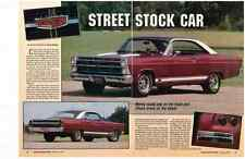1967 FORD FAIRLANE GT 390-4V (320HP)   ~   GREAT 4-PAGE ARTICLE / AD