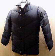 Vintage KELTY Original Puffy 100% Goose Down Coat 1970s Puffer Navy Blue X-Small