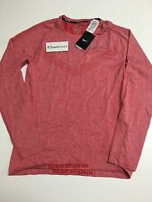 Nike Dri Fit Knit Long Sleeve Shirt Red 596177 688 Men's Small