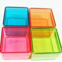 12 Small Plastic Storage Container Box Square Shape 4 Color Jewelry Bead DIY Box
