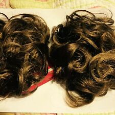 NEW PAGEANT Large SCRUNCHIES #12 HAIR PIECE WIG CHEER DANCE PIGGIES HAIRPIECE