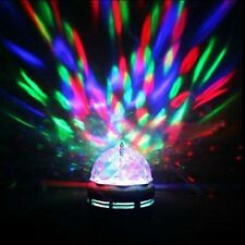 3D Effect Rotating 3W RGB LED Stage Magic Light Music-Activated Party Dance DJ