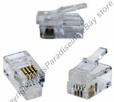 Lot50 Phone/Telephone RJ10 Crimp End/Terminator for Flat cable/cord/wire/line