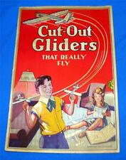 "RARE ANIMATED PAPER TOY CRAFT BOOK ""CUT OUT GLIDERS THAT REALLY FLY"" 1ST ED 1930"