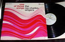 RAY CHARLES SINGERS One of Those Songs 1966 Command Stereo NM LP Yesterday