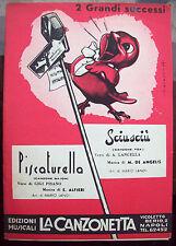 1956 SPARTITO MUSICALE CON CANZONI NAPOLETANE 'PISCATURELLA' e 'SCIU SCIU''