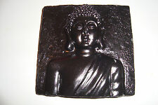Small Rustic Stone Thai  Buddha Plaque ,Black,Garden Ornaments~uk seller