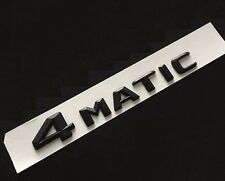 Black 4MATIC 4 MATIC Trunk Emblem Rear Badge Decal Sticker Mercedes Benz CLS GLA