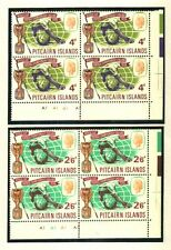 PITCAIRN ISLANDS 1966 SOCCER WORLD CUP PLATE BLOCKS MNH