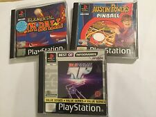 3 ps1 PLAYSTATION 1 PSONE FLIPPER GIOCHI Austin Powers + elementare + TP vero