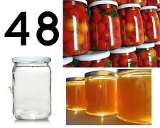 48 vasi vasetti barattoli in vetro da cc 1062 compresi di tappi capsule