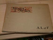 Catalogue Sièges de styles AL et F