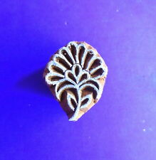 Small Flower Hand Carved Wood Fabric Clay Pottery Stamp Henna Indian Print Block
