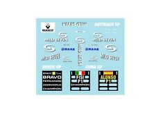 F1 DECALS MUSEUM COLLECTION D326 1/43 RENAULT R25 BRAZIL CHINA AUSTRALIA GP