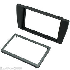 CT24JG05 JAGUAR X TYPE 2002 to 2009 BLACK DOUBLE DIN FASCIA ADAPTER PANEL