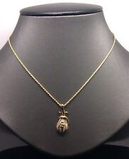 Genuine 10K Yellow Gold MONEY Bag  Charm, 10K Rope,franco,Miami Cuben Chain 22""