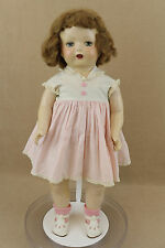 "21"" vintage antique Composition cloth mama Doll 1930s with sleepy eyes"