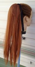 "20"" ginger copper red straight pony tail hair extension hair piece fancy dress"