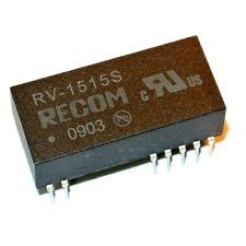 RV-1515S DC/DC Converters 2W DC/DC MIN 6kV UNREG 15Vin 15Vout RECOM [QTY=1]