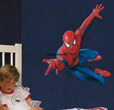 Grand 110 * 90cm Spiderman Wall Stickers Enfants Garçons Chambre Murale Fond d'écran Art