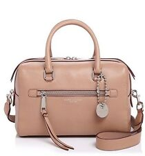 NWT MARC JACOBS $495 NUDE BEIGE RECRUIT BAULETTO SATCHEL BAG