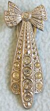 Vintage 1930s ART DECO Rhinestone Detailed BOW Dress Clip BROOCH