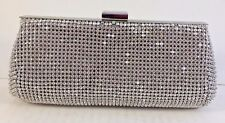 Glint Silver beaded Evening Clutch $0,99 Sale