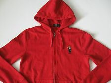 POLO RALPH LAUREN Men's Red Tuxedo Polo Bear Full-Zip Fleece Hoodie S