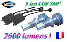 Kit VEGA® G3 FULL LED COB 2 Ampoules H11 360° Couleur Xénon 6000K Anti-err ODB