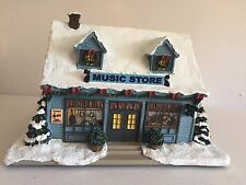 Norman Rockwell Christmas Village Collection 2007 Main Street Music Store