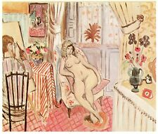 Henri Matisse•The Artist and his Model 1919•Early Matisse Fauvism Art POSTCARD