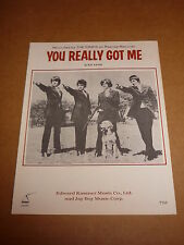 "Kinks ""You Really Got Me"" US MINT sheet music"