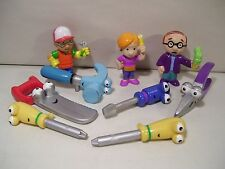 LOT OF 9 DISNEY HANDY MANNY PVC FIGURES LOPART KELLY PAT HAMMER DUSTY FELIPE