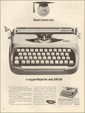 1963 vintage AD,  ROYAL Royalite TYPEWRITER  office equipment  typing  (110614)