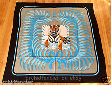 HERMES 'TIGRE ROYAL' 140cm Giant 100% Silk Twill Scarf Shawl - NEW WITH TAGS