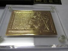 Frank Thomas Highland Mint Gold Card  gold plated 4.25  .999 fine  silver  oz