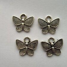 30 pcs Tibetan silver butterfly charm pendant 10.5x12 mm