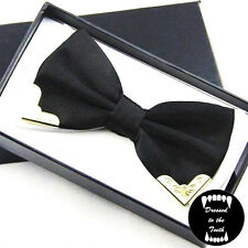 Black White Bow Tie Metal Adjustable Pre-Tied Prom Wedding Party Formal UK Free