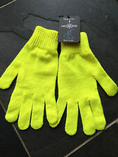 Paul Smith FairIsle Yellow 100% Wool Gloves    -  One Size - Brand New