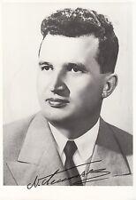Nicolae ceausescu-jefe de estado Rumanía-foto aprox. 14 x 20 cm-original firmado