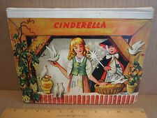 cinderella pop up action book 1961 Westminster Books printed Czechoslovakia