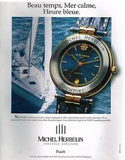 Publicité Advertising 1994 La Montre Newport Michel Herbelin