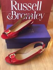 Stuart Weitzman £265 Red SLIM NARROW FIT Shoes Russell & Bromley 6.5 7 - 39.5 40