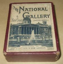 THE NATIONAL GALLERY (BRITISH SCHOOL) ANTIQUE JAQUES PLAYING CARD GAME c1890