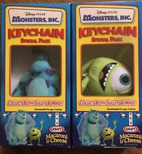 DISNEY MONSTERS Inc Sulley & MIke Keychains Kraft Macaroni Cheese Sealed NEW