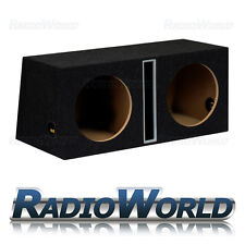 "12 ""MDF SLOT PORT TWIN SUB BOX SUBWOOFER Enclosure BASS Enclosure vuota DOPPIO B"