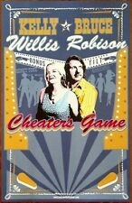 KELLY WILLIS & BRUCE ROBISON Cheater's Game Ltd Ed Discontinued New Poster Folk